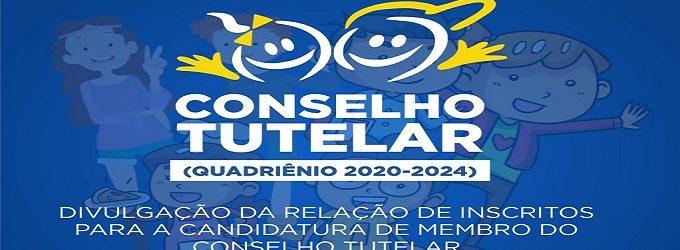 CMDCA divulga relação de inscritos para a candidatura de membro do Conselho Tutelar