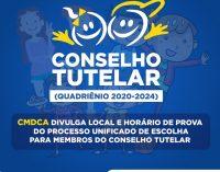 CMDCA divulga data, local e horário das provas objetivas do Processo de Escolha Unificado para Membros do Conselho Tutelar