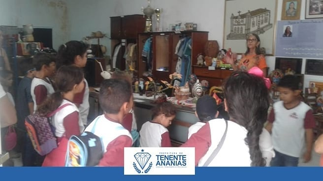 Os alunos da Escola Municipal Joaquina Pinto Lopes, visitaram o Pontinho de Cultura e os Museus na cidade de Major Sales/RN