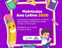 Matrículas – Ano Letivo 2020