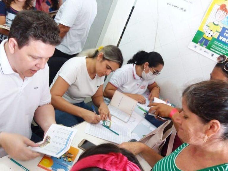 Secretaria de Saúde de Tenente Ananias realiza primeira etapa da campanha nacional de vacinação contra o sarampo.