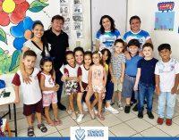 A Prefeita Larissa Rocha Visitou as Escolas Joaquim Boaventura do Nascimento e Pica-Pau Amarelo.