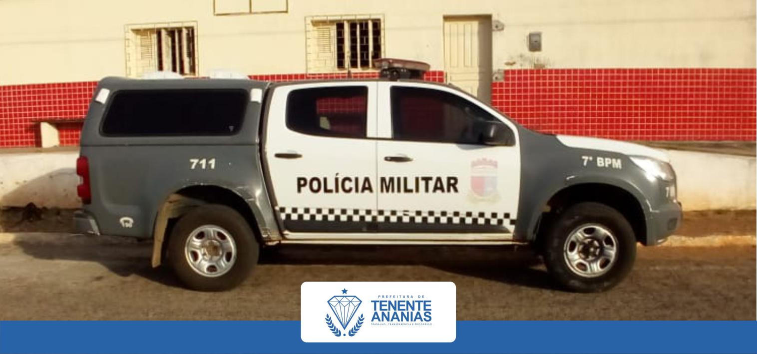 O destacamento de Polícia Militar de Tenente Ananias/RN foi contemplado com uma viatura (S10).