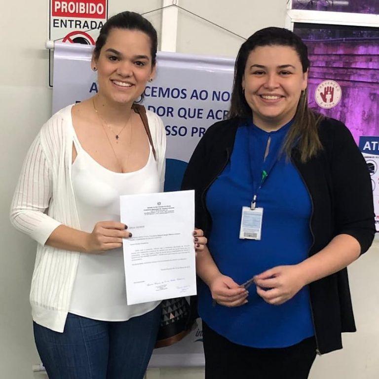 Prefeita de Tenente Ananias protocola ofício na Companhia de Águas e Esgotos do Rio Grande do Norte.