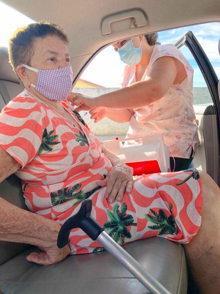 Nesta quarta (17), iniciamos a vacinação dos nossos idosos de 79 e 78 anos. Veja!